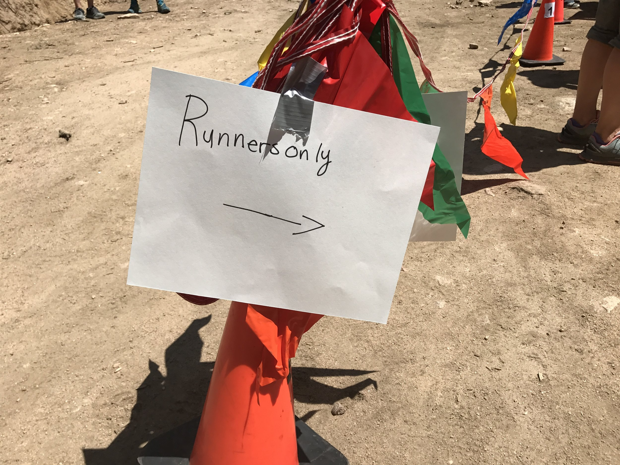 Runner entrance to aid station
