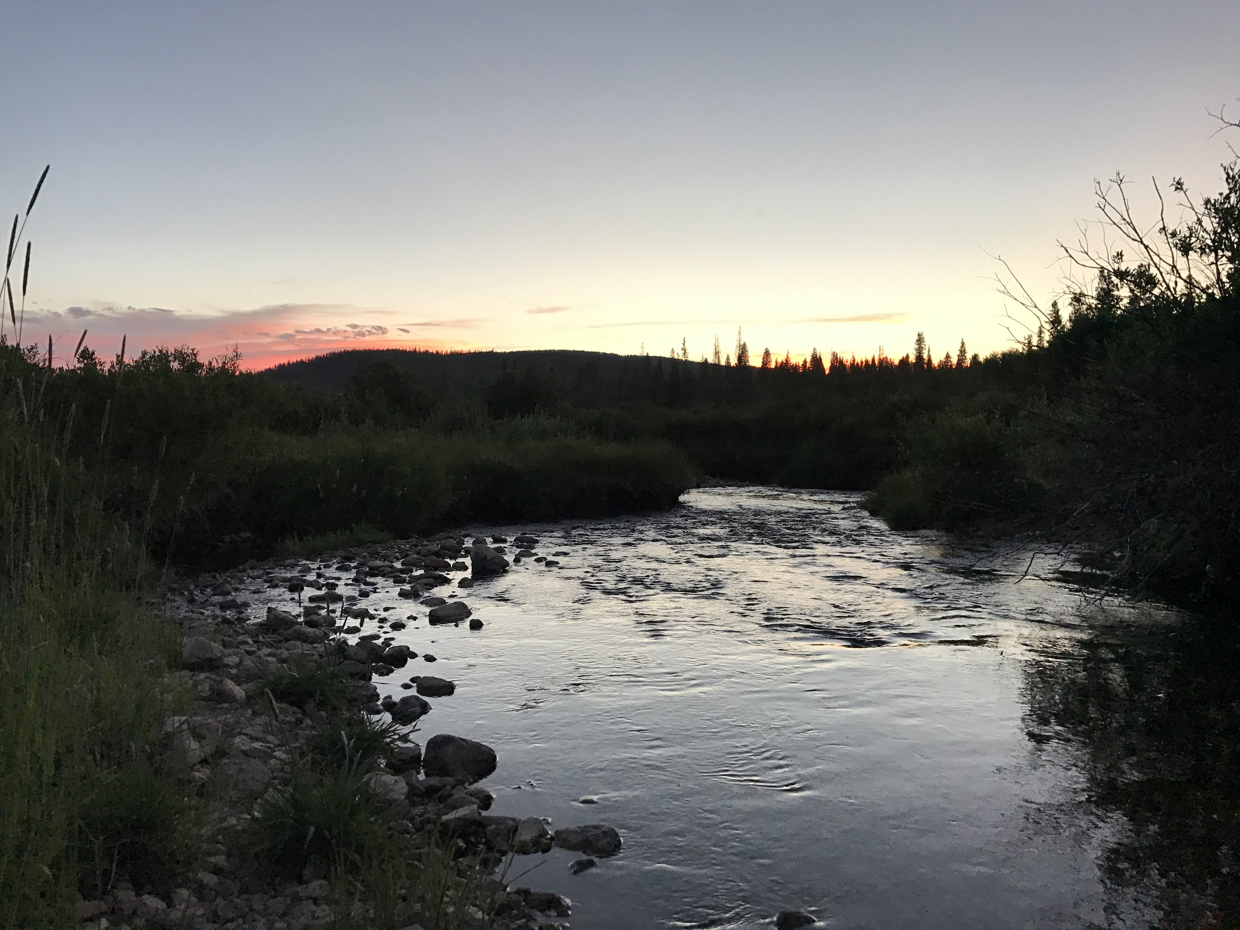 Sunset on an amazing day at the 2017 Never Summer 100K, Cameron Pass, CO. Many runners started at dawn and continued to run well into the next day.