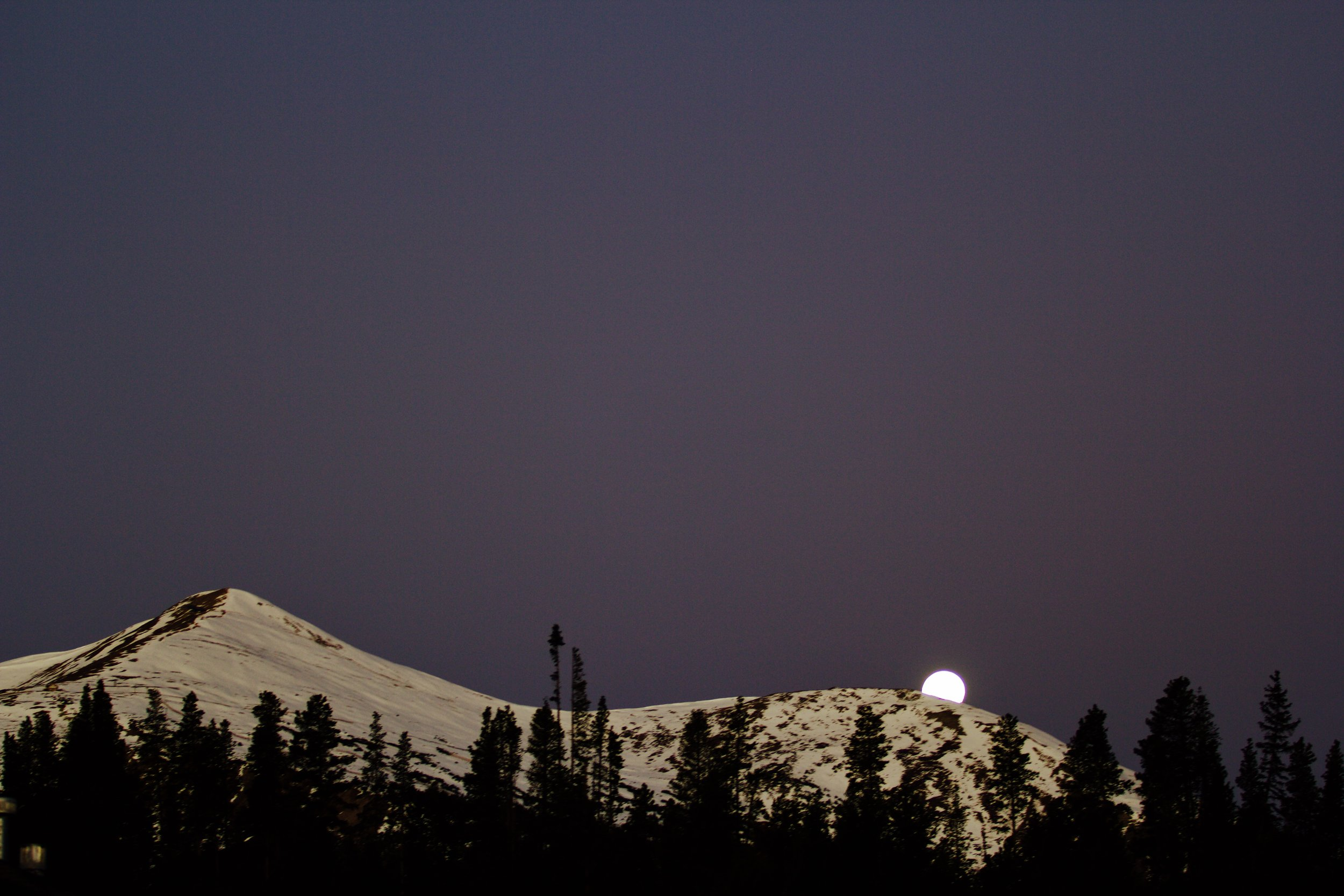 Moonset the morning of CSAW