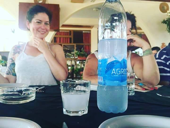 """This is me being a """"bad yogi"""", drinking Alcohol 😜 (Raki in Cyprus)"""