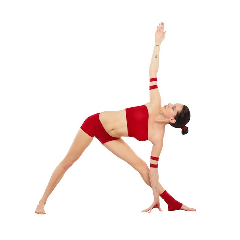 Utthita Trikonasa. This is the FULL extended pose