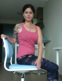 Core twist Yoga for office