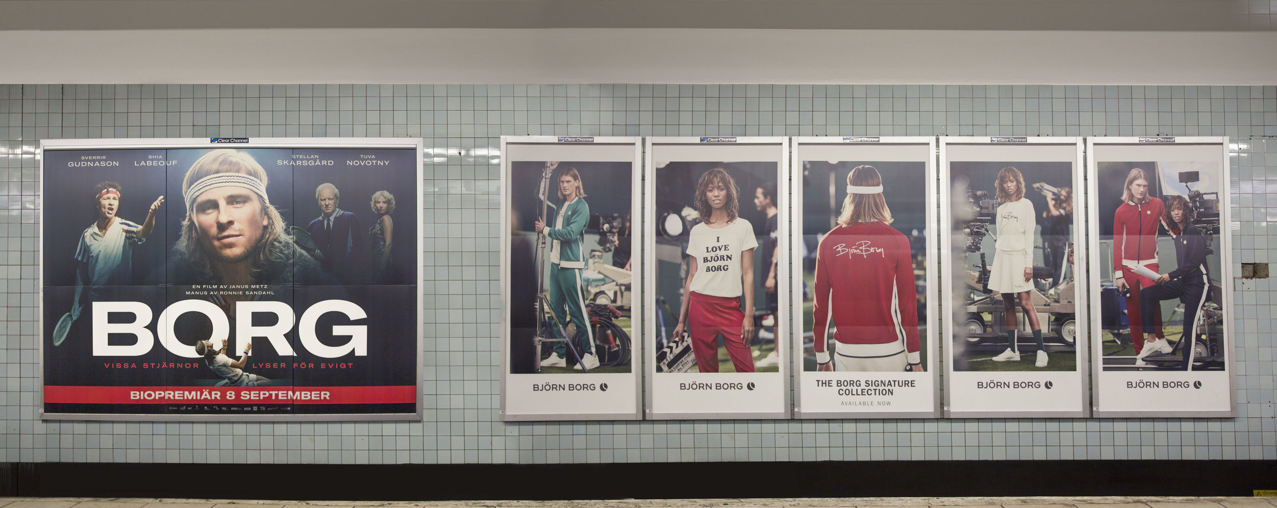 Our posters next to the official Borg vs. McEnroe poster
