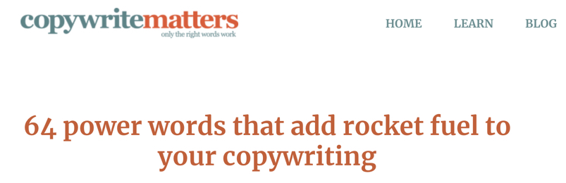 Source: copywritematters.com Click the image to get the list
