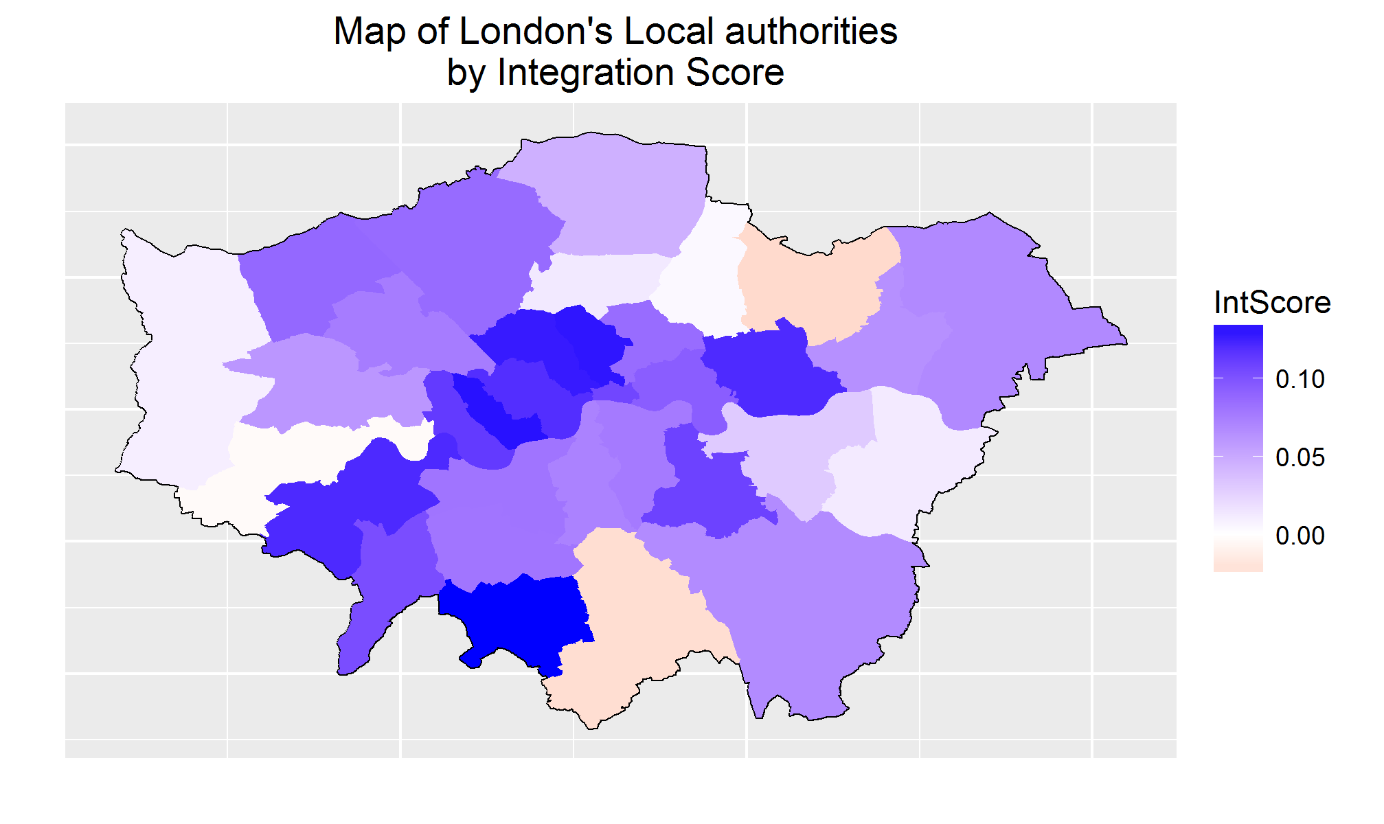 London Boroughs are generally more integrated than expected, however Redbridge, Hounslow and Croydon, are more segregated.
