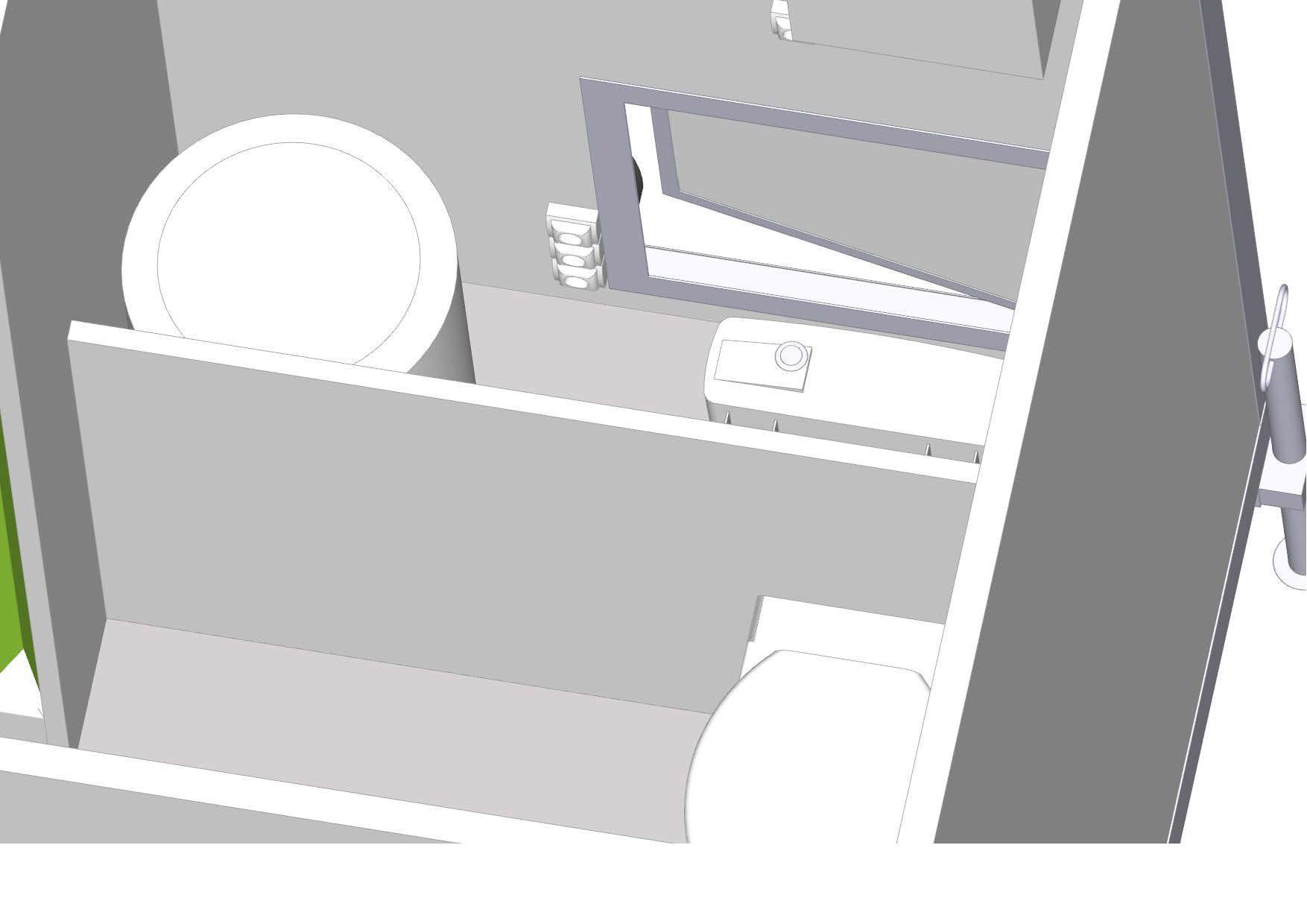 Doorsnede - mobiele badkamer