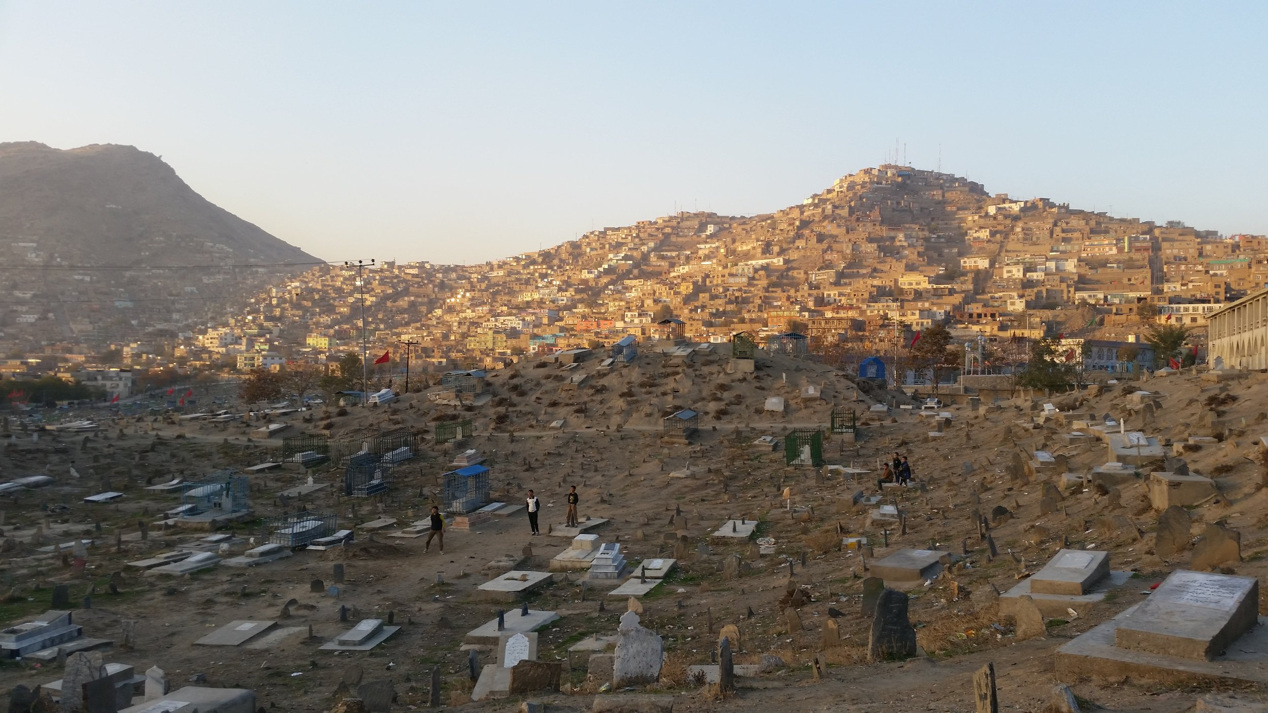 Cricket in a Kabul cemetery