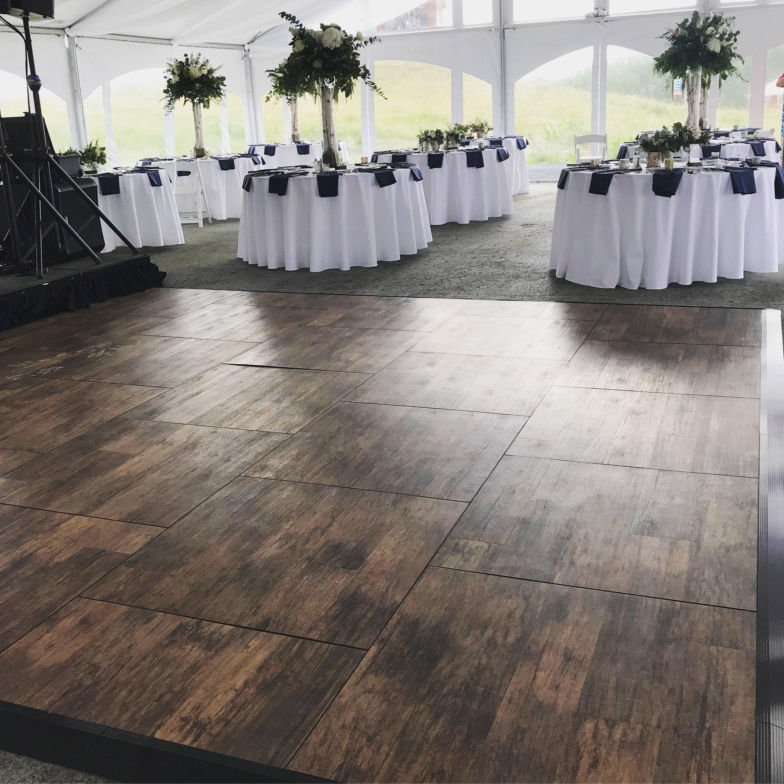 Brushed Oak Dance Floor