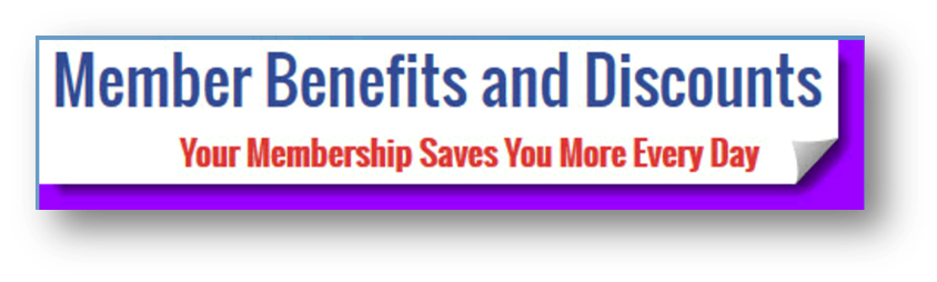 Click here to see our Membership Benefits and Discouts