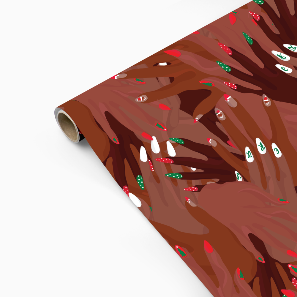 We love - This Mrs. Claws gift wrapping paper for the culture from Dubiee.