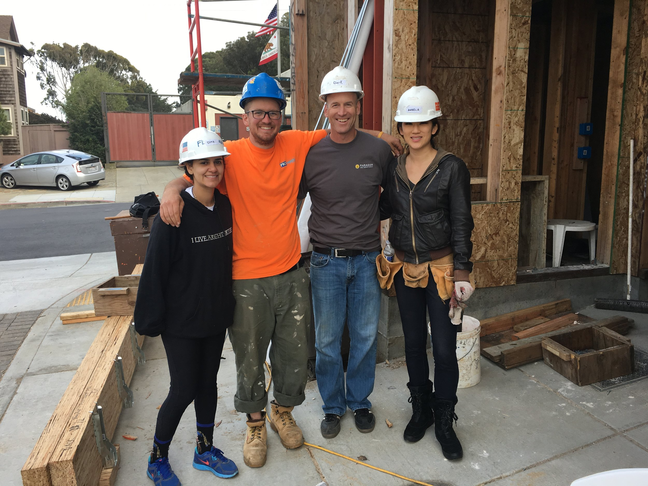 Habitat for Humanity volunteer at at Habitat Terrace, San Francisco, February 2016  Shout out to the roof team