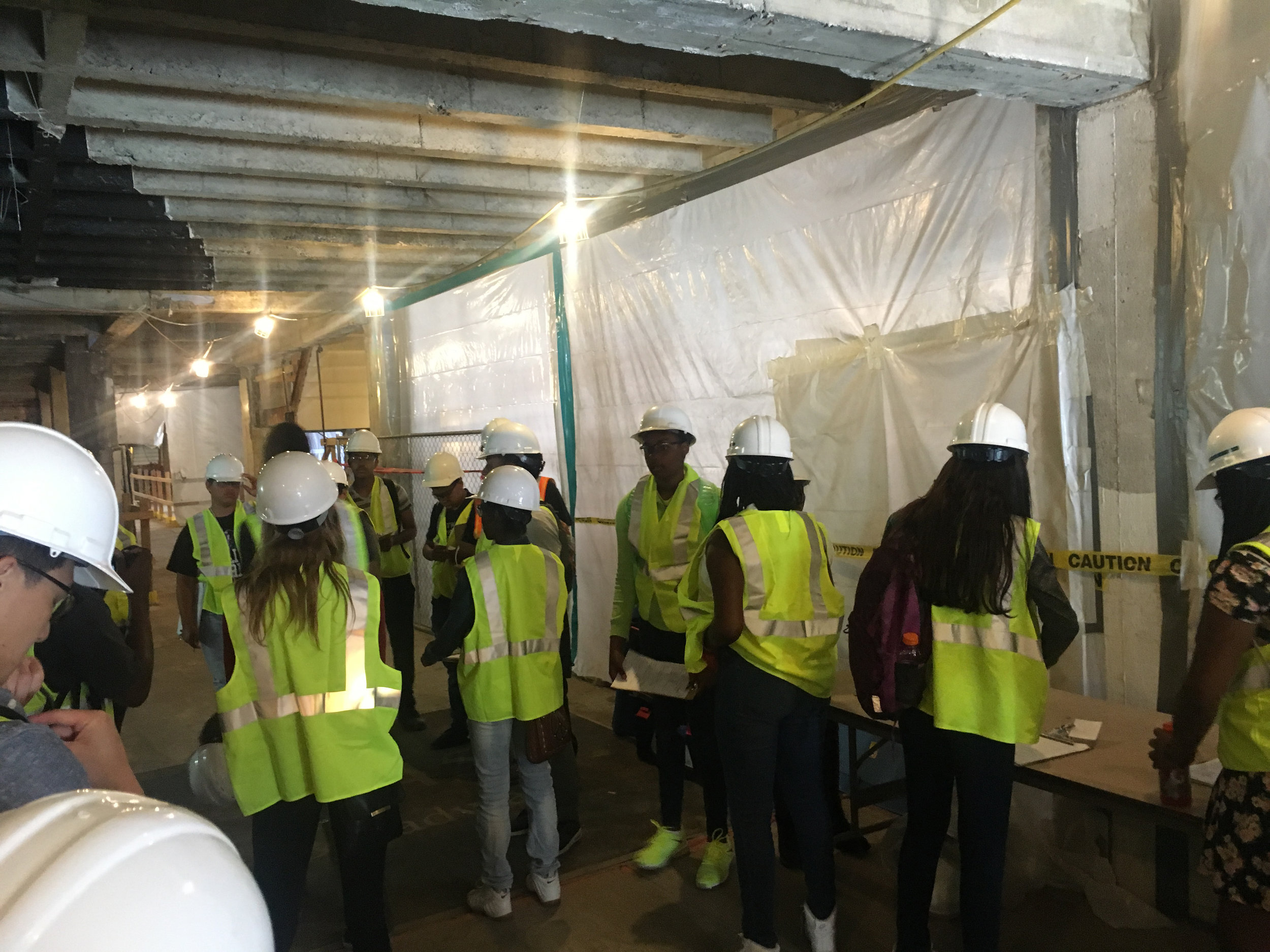 At the given site (Uber Headquarter, Oakland), the students are understanding the concept and the structure of the building