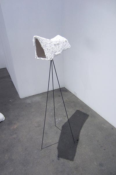 Seeing Through, 2015, plaster, foam core, steel, variable sizes