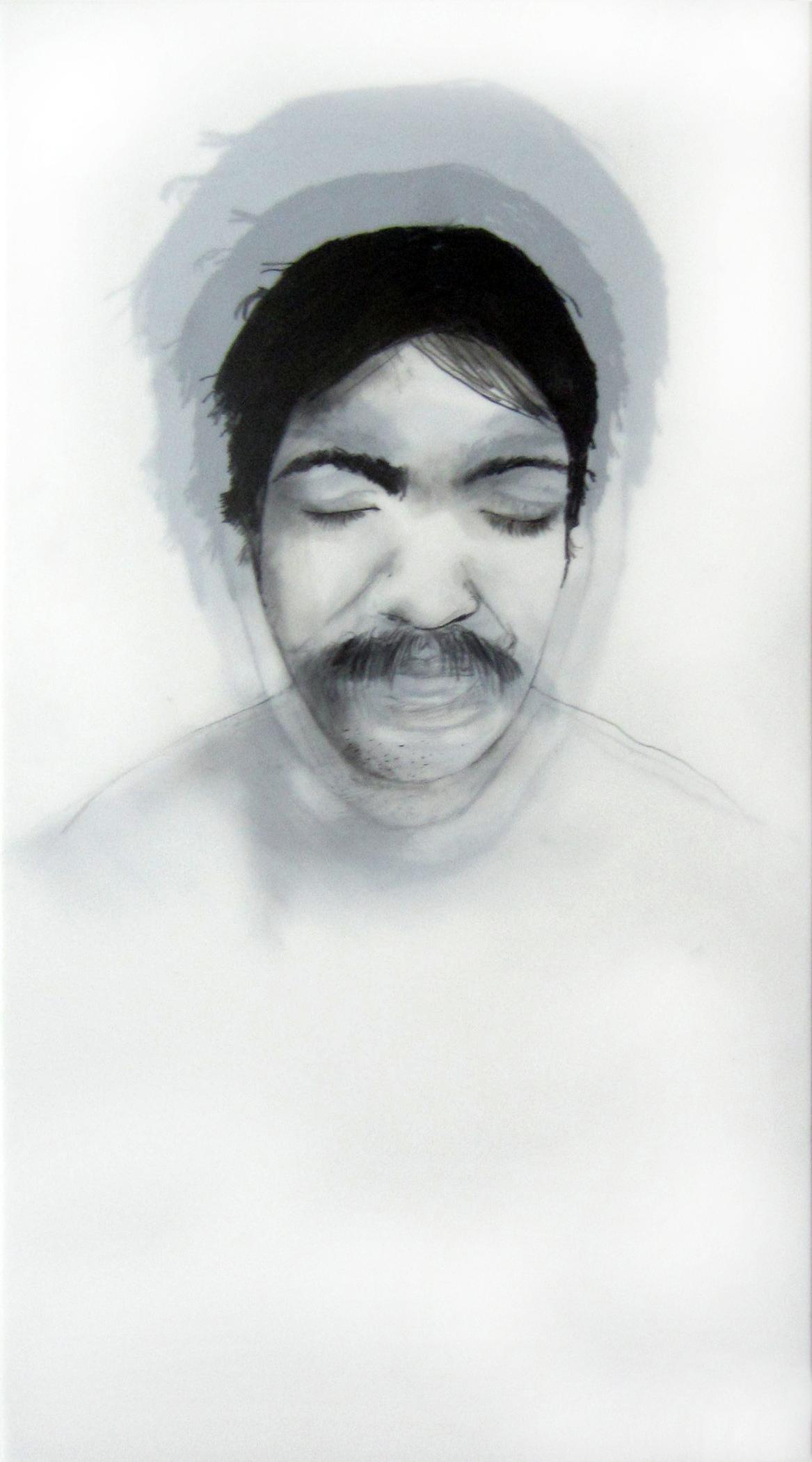 "Being (Carlos)  Graphite on dura-lar, 9 x 11"" 2013"