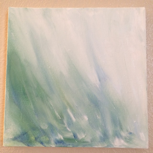 Peaceful -in memory of a carefree childhood. Acrylic 10x10 inches. $75