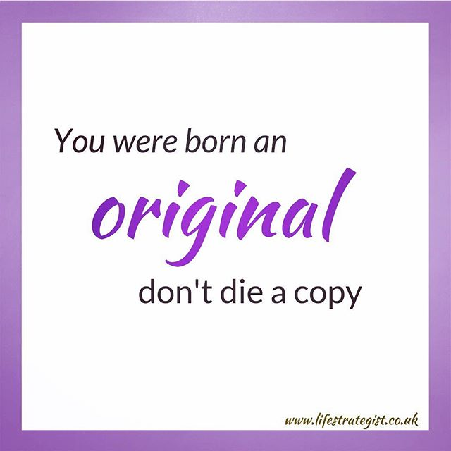 You were born an original, don't die a copy is actually an inspiring book by John Mason. It highlights the fact that we are all so unique, with a unique purpose. Copying can be like a rejection of our unique selves, in favour of something or someone who is outside of ourselves. We can all be original when we accept and express who we are. If you are unsure of who that special person (who is within you) might be, feel free to DM me. I am giving away some free tools to help unearth the rebel within you! ...that special person who wants to act from a place of authenticity, but maybe you are questioning your past, and your beliefs/ values system. You may even be afraid of appearing 'fake'. You want to become an authentic Coach or Consultant who is doing the work you were born to do. But doing it in your own unique way. DM #purposedrivenlife #purpose #womenempowerment #inspiration #support #motivation #lifecoach #coach #realtalk #truetoyourself #mompreneur