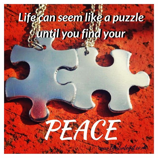 Life can seem like a puzzle until you find your peace! For me 'peace' is like that feeling of belonging. It's a quality that you feel when you are on the right path in your work/ business, or when you feel on track with your health. I can also relate it to when you have met the 'right' person, and that connection that you have is so strong..it feels like you are home. I believe that it's that feeling that keeps us grounded, and motivated to experience more of life without the fear of failing. It's that 'peace' that keeps us strong, and resilient. Have you found peace in your life? Feel free to comment #purposedrivenlife #purpose #inspiration #motivation #coach #lifecoach #peace #