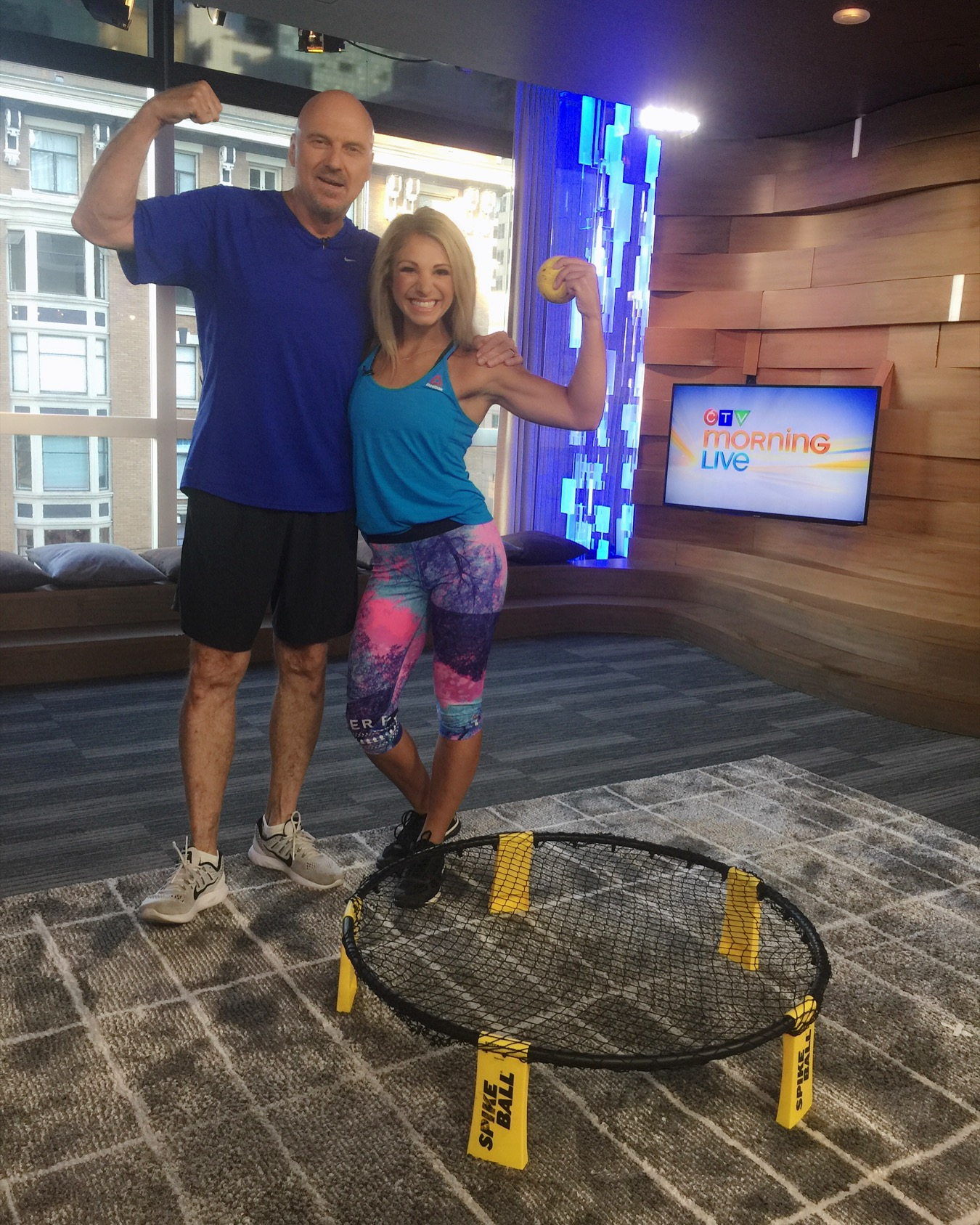 Mandy and Marke Playing Spikeball - CTV Morning Live