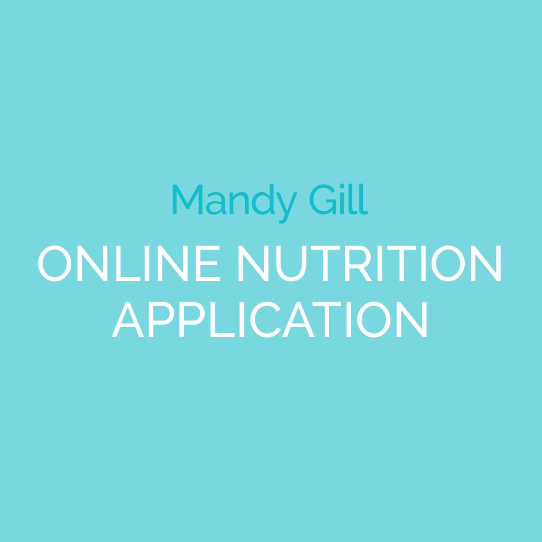 Mandy Gill's Online Nutrition App