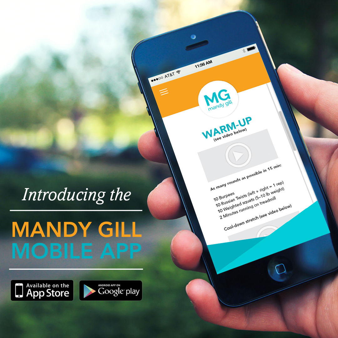 Mandy Gill Fitness and Nutrition App