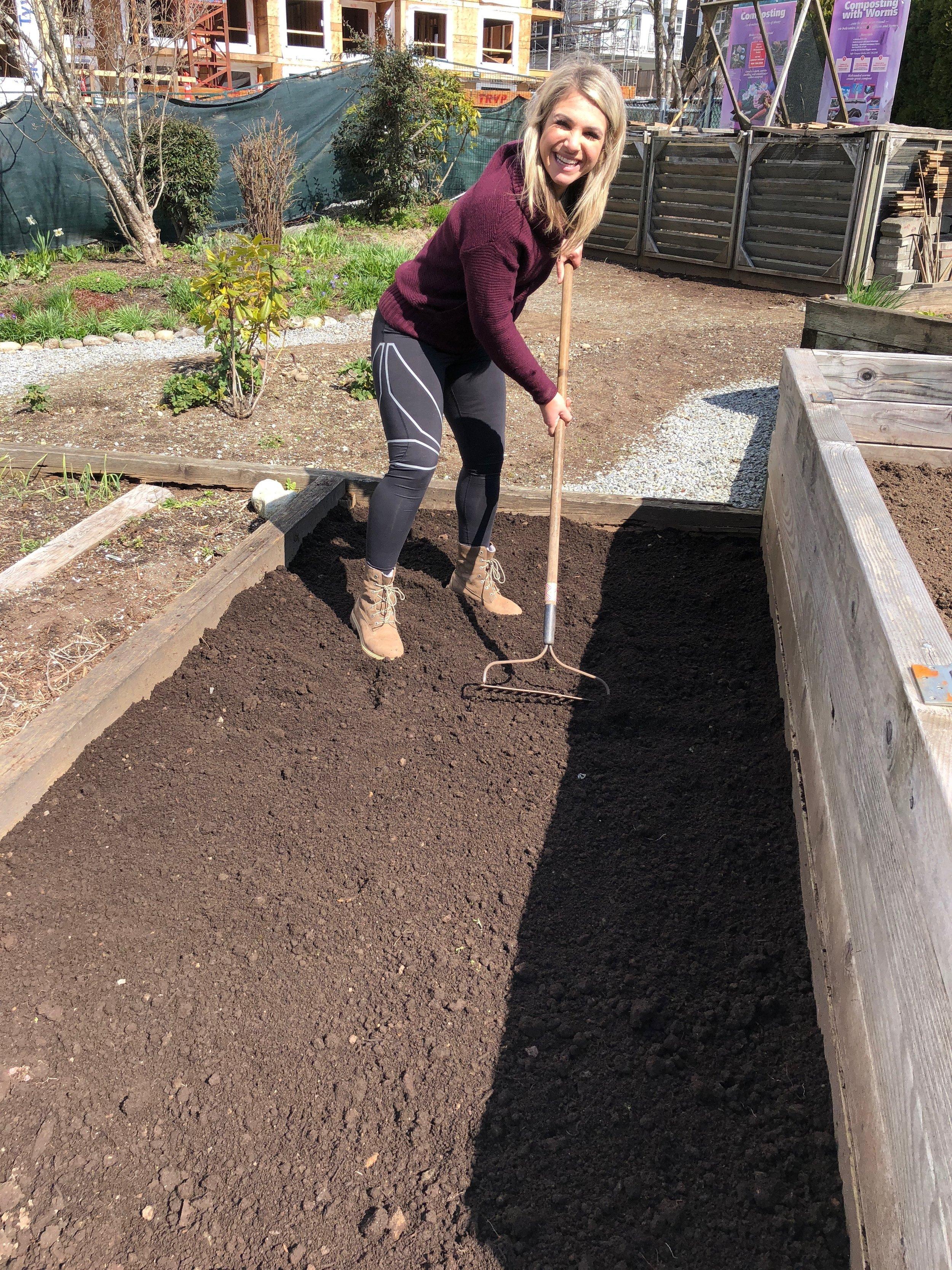 Working away in my community garden!