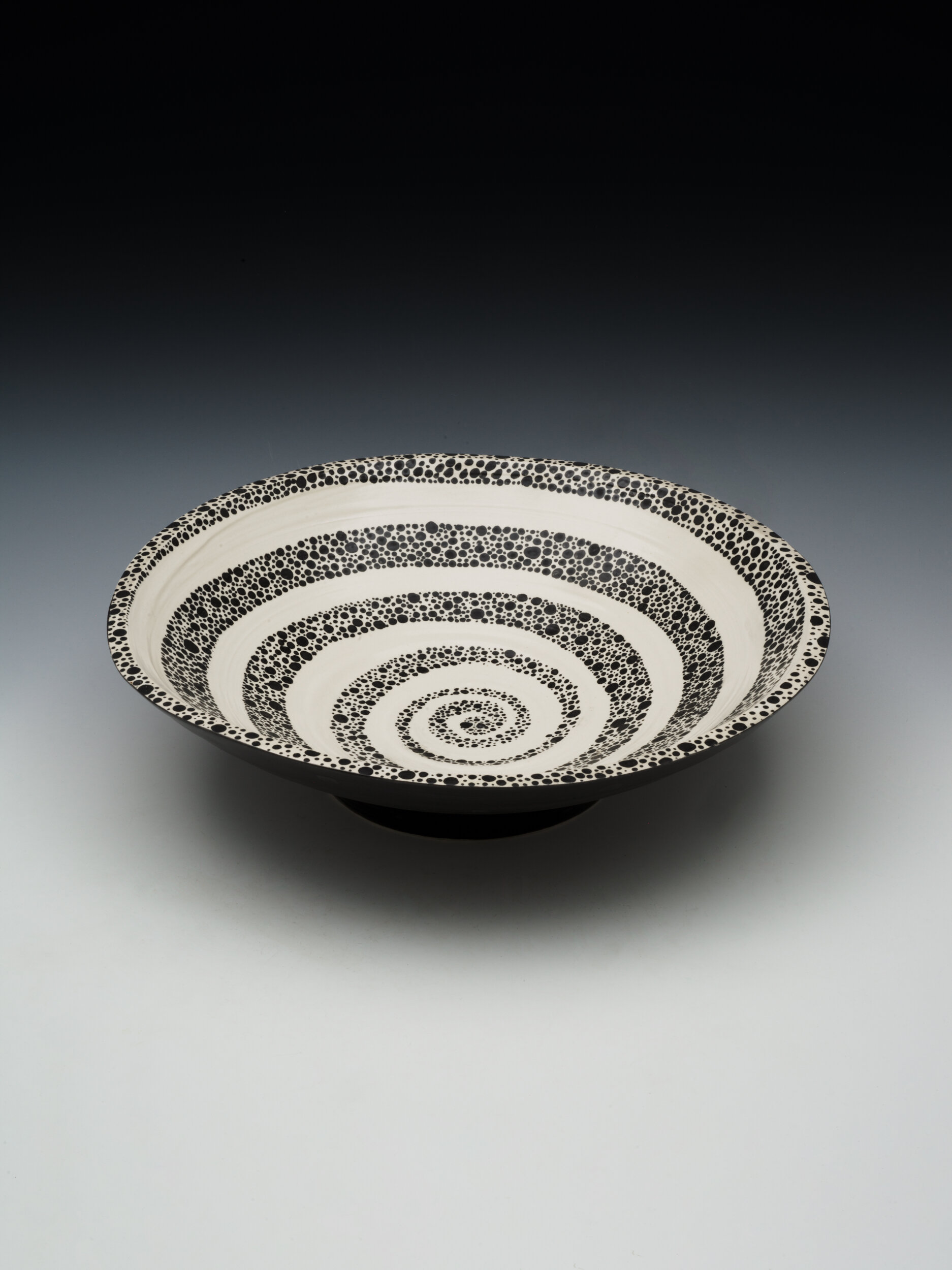 """Mimbre and Pattern Inspired Bowl. 2019. 8""""H x 16""""W x 16""""D"""