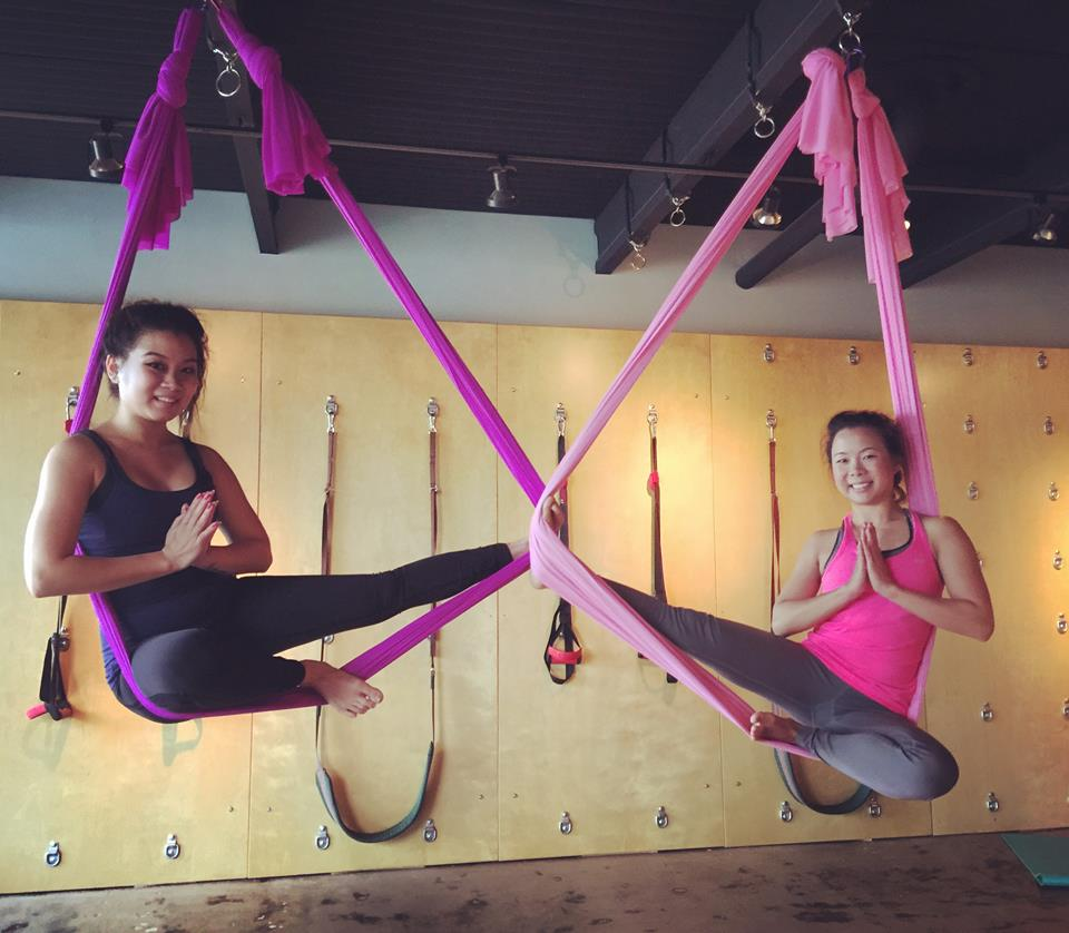 Aerial Yoga - We have aerial yoga parties up to 16 people by appointment. We also have three drop in classes coming up: Oct 8 2:30pm, Oct 21 10:00am & Oct 24 6:00pm