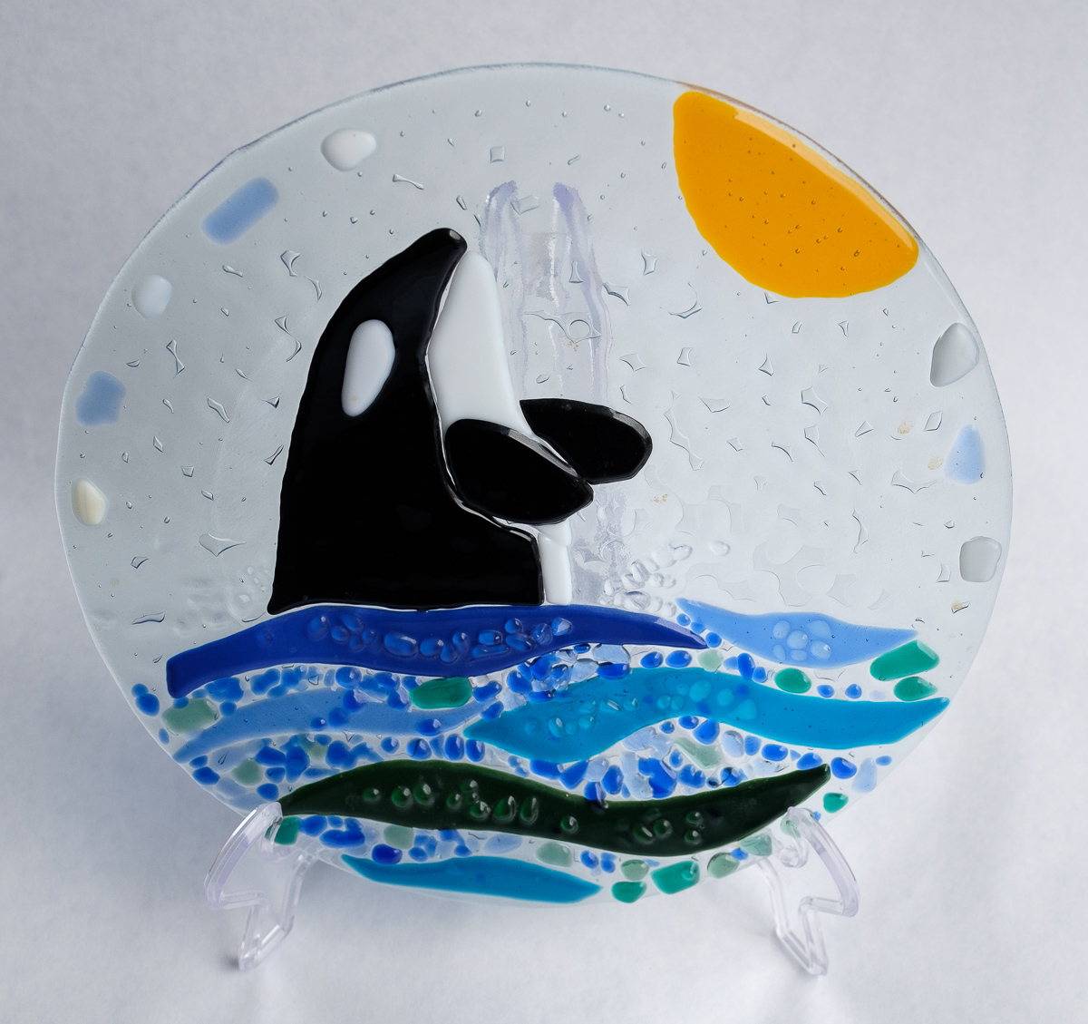 Whale Glass Plate