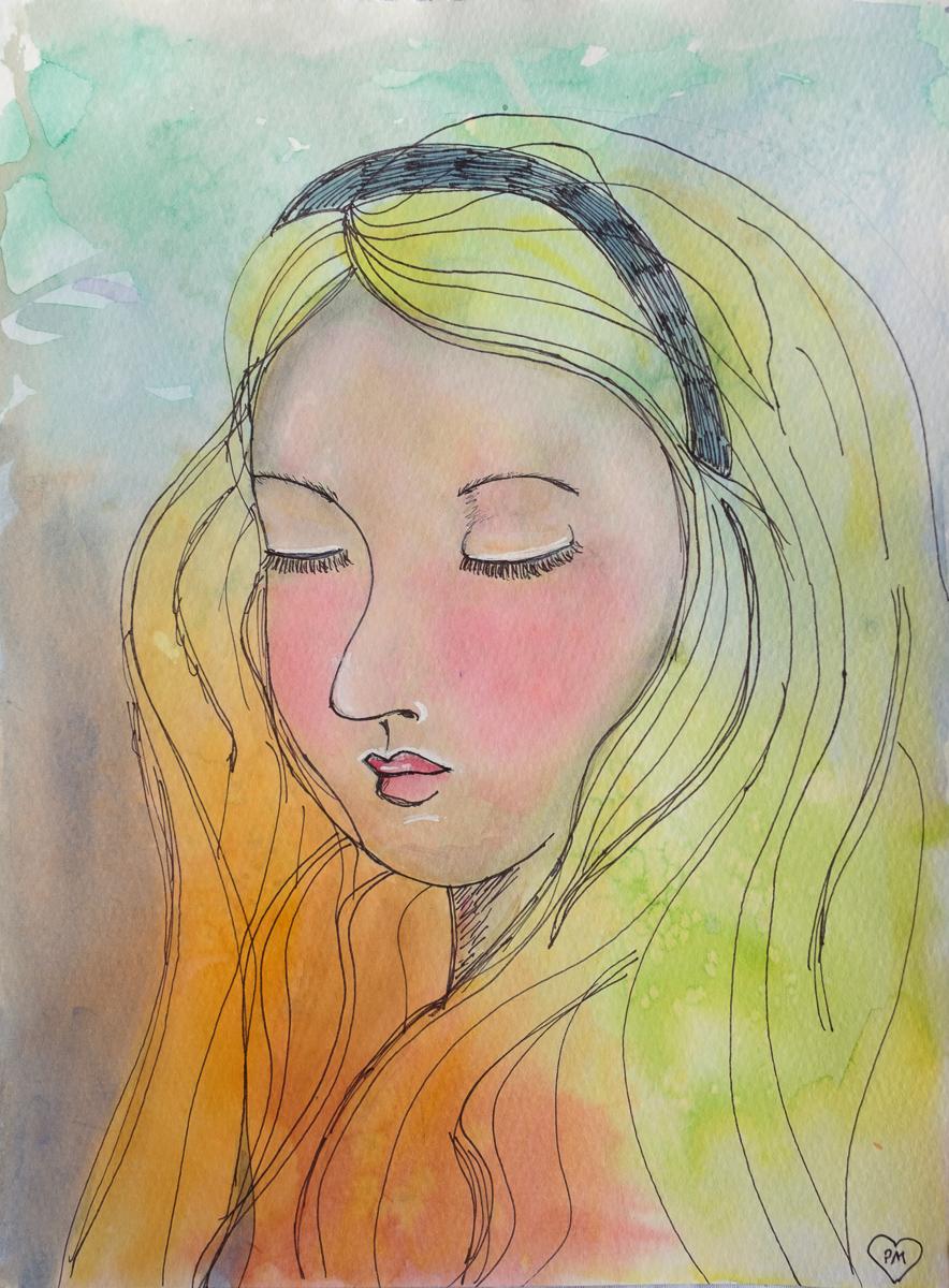 Peaceful Alice Portrait