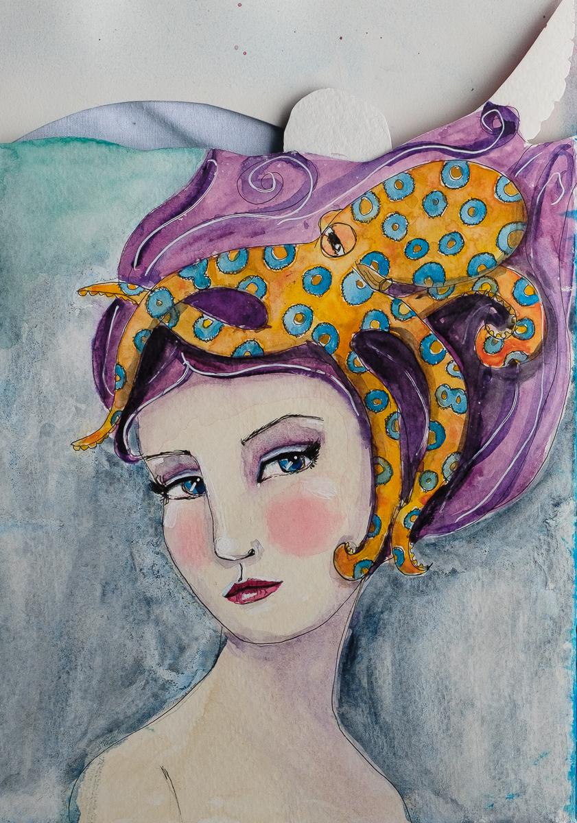 Octopus Hat Mermaid