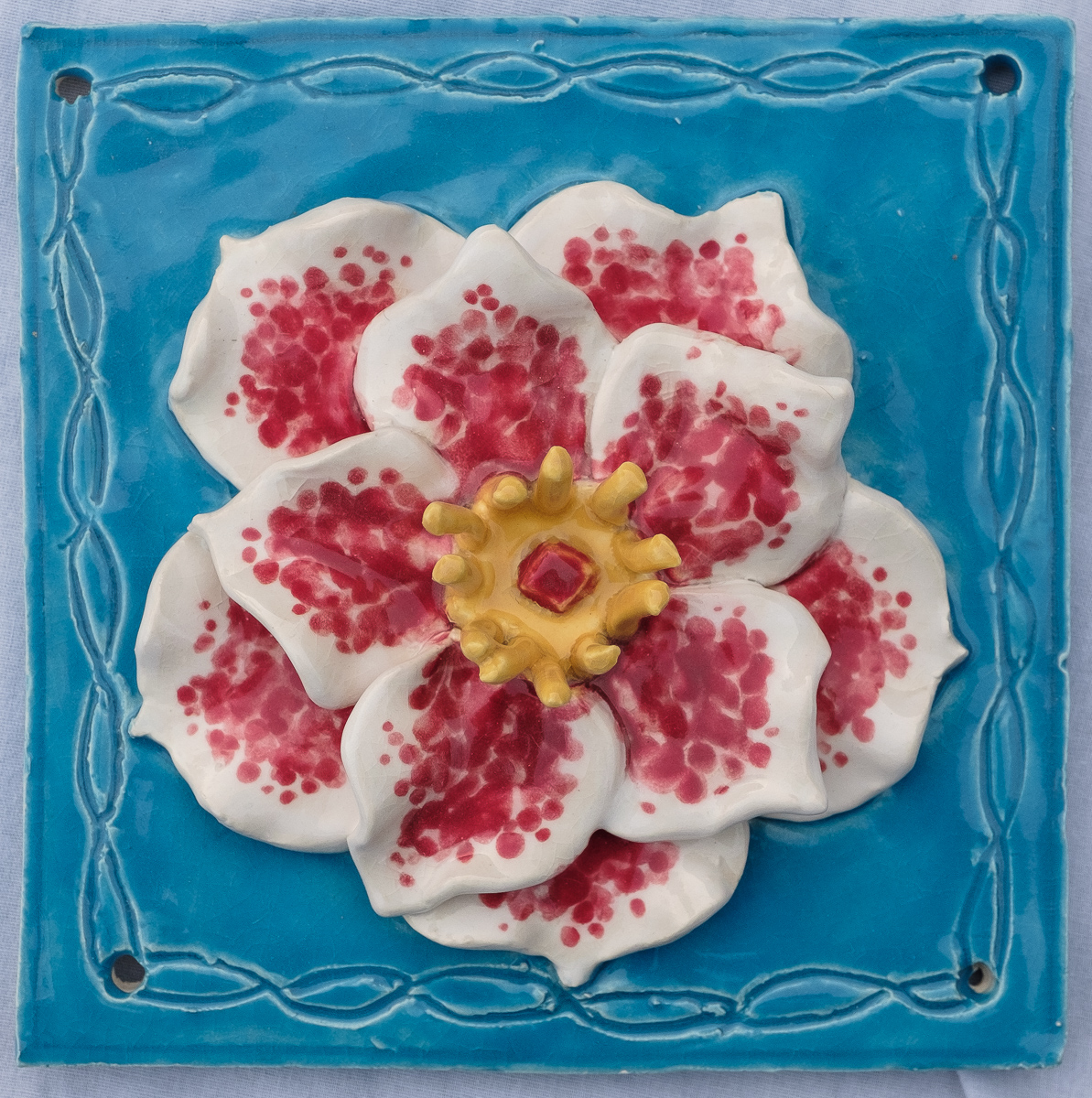 Flower Tile Sculpture