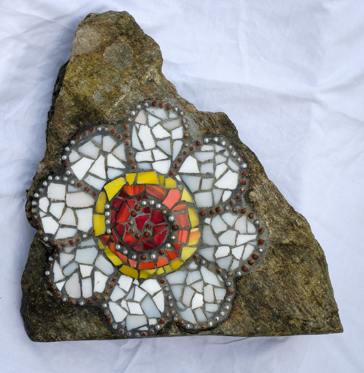 Mosaic Flower on a Rock