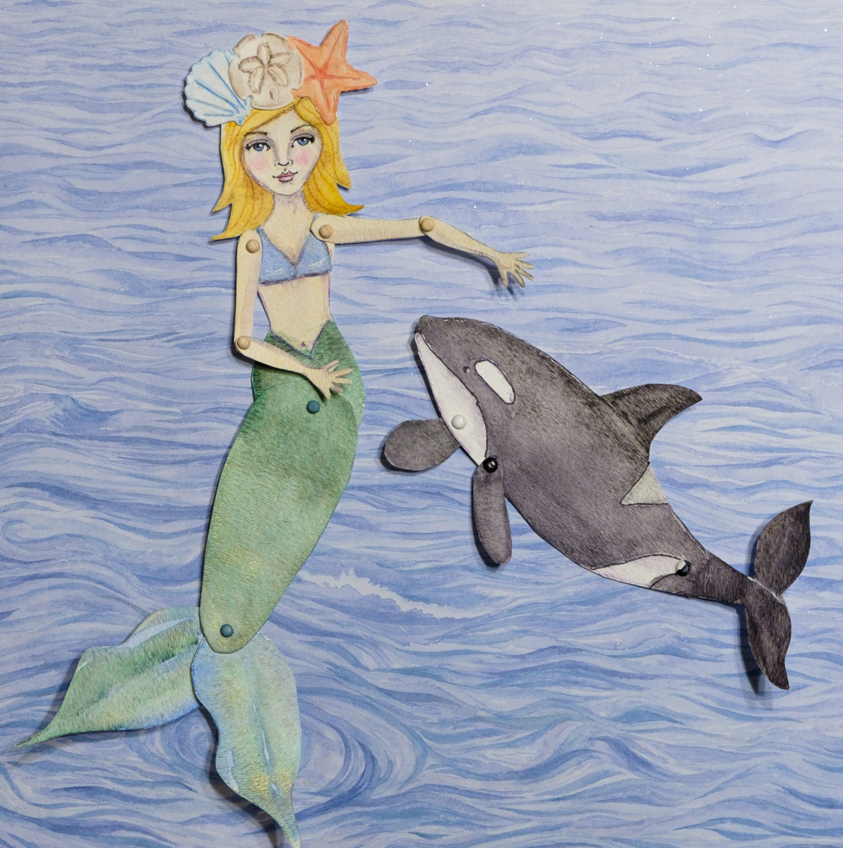 Polaris the Mermaid and her friend Dipper Paper Dolls