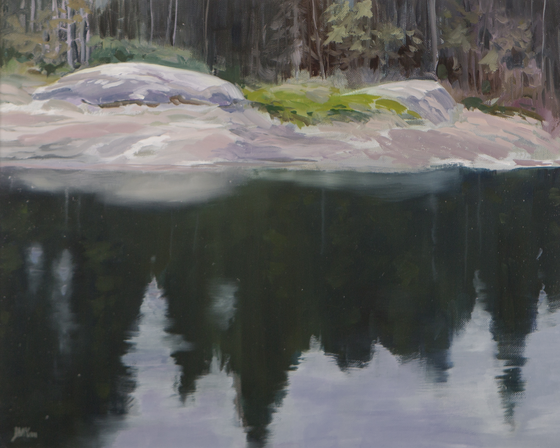 Pond in April, Algonquin