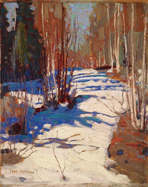 Tom Thomson,   Path Behind Mowat Lodge, 1917      Art Gallery of Ontario