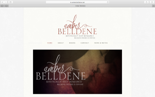 Amber Belldene Website Redesign