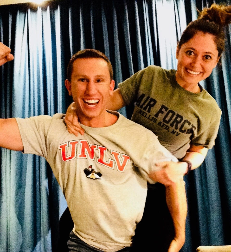 Patrick Wallace  - Emergency Medicine at University Nevada Las Vegas  &  2nd Lt. Laurie Bezjian  - Family Medicine at Nellis Air Force Base, NV