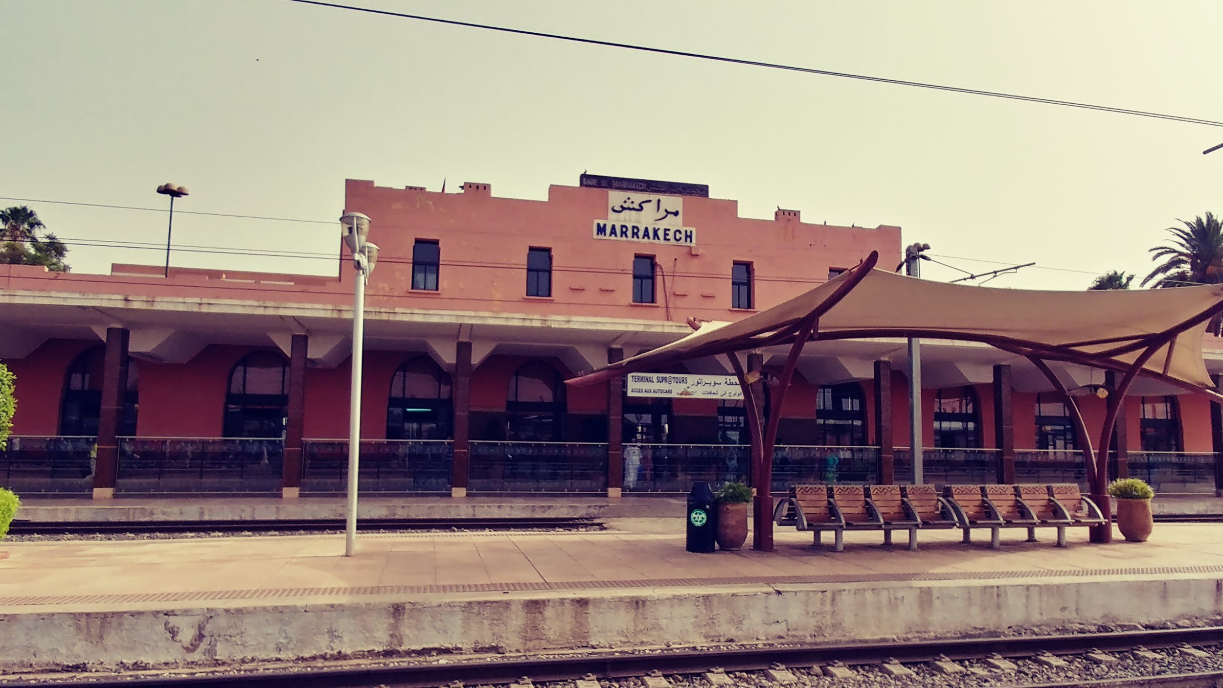 Train depot in Marrakesh