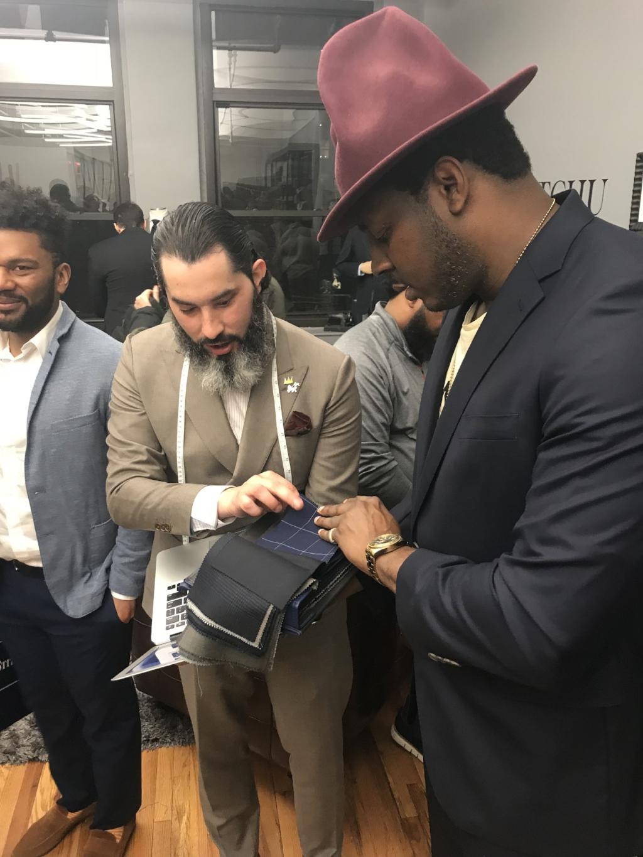 Andrei Flores-Cortes shows InStitchus suit fabrics