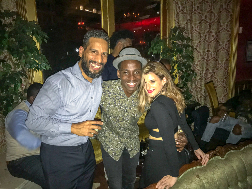 Manny Almonte, JD Weatherspoon and Patrizia Griffo