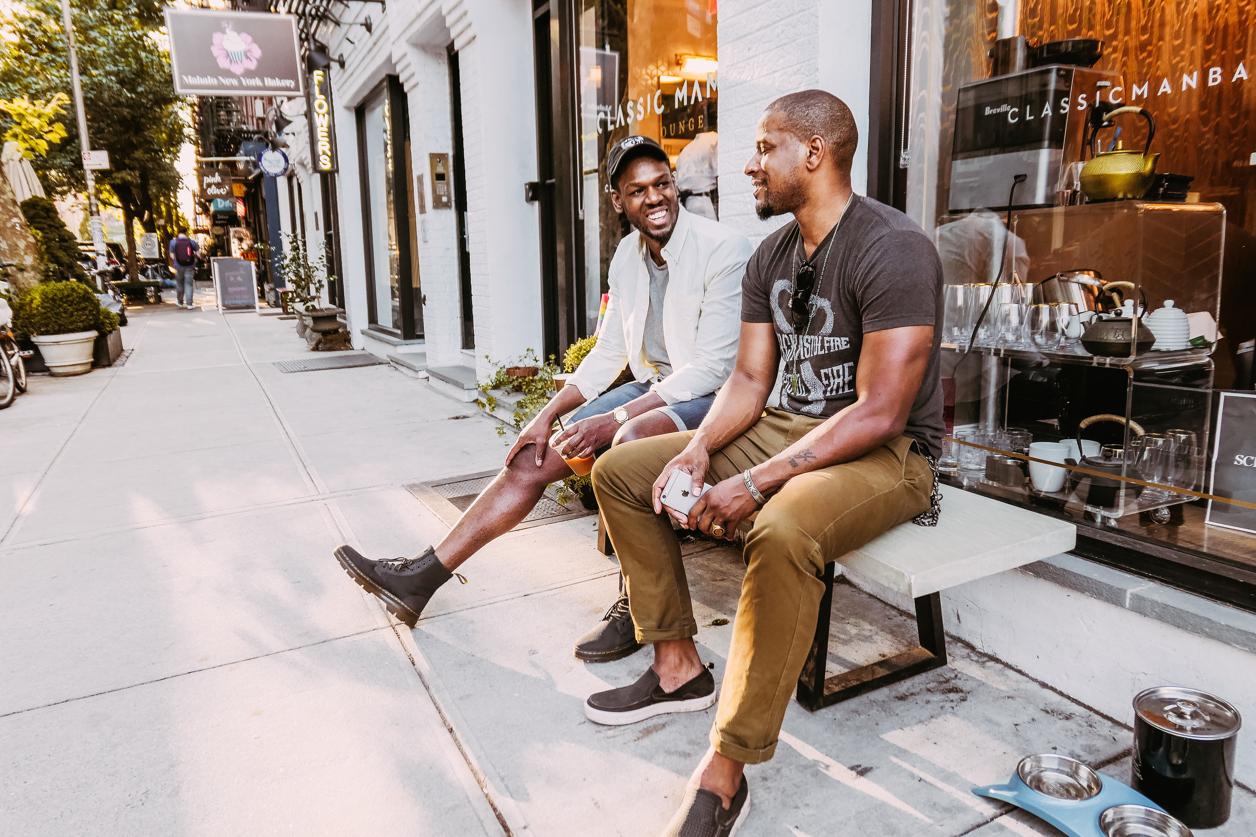 Isiah Michael, co-owner of Classic Man Barber Lounge and Mike McConnell, founder of Mastermind Connect