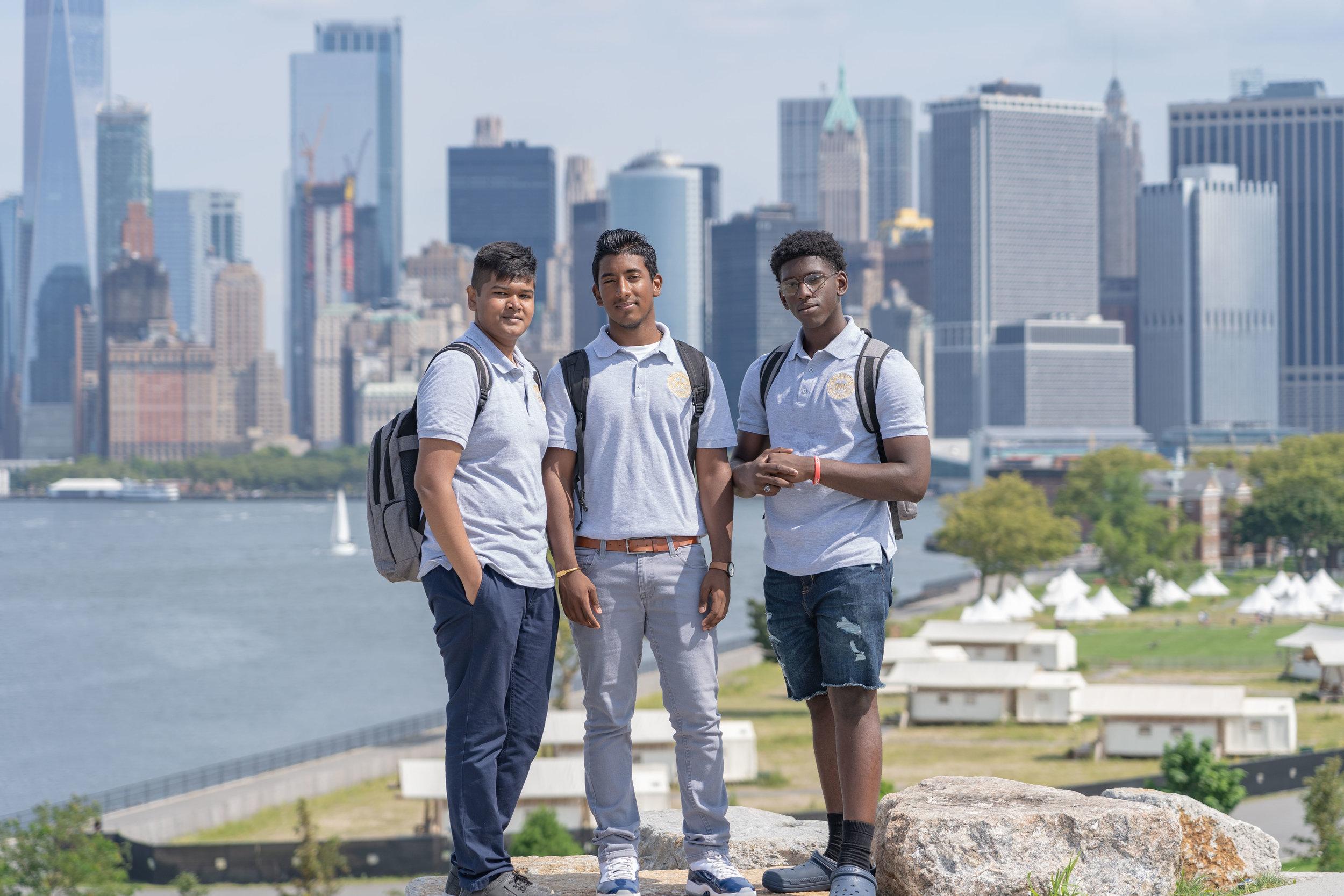 NYC Urban Ambassadors at Governors Island. Photo by Andy Isaacson