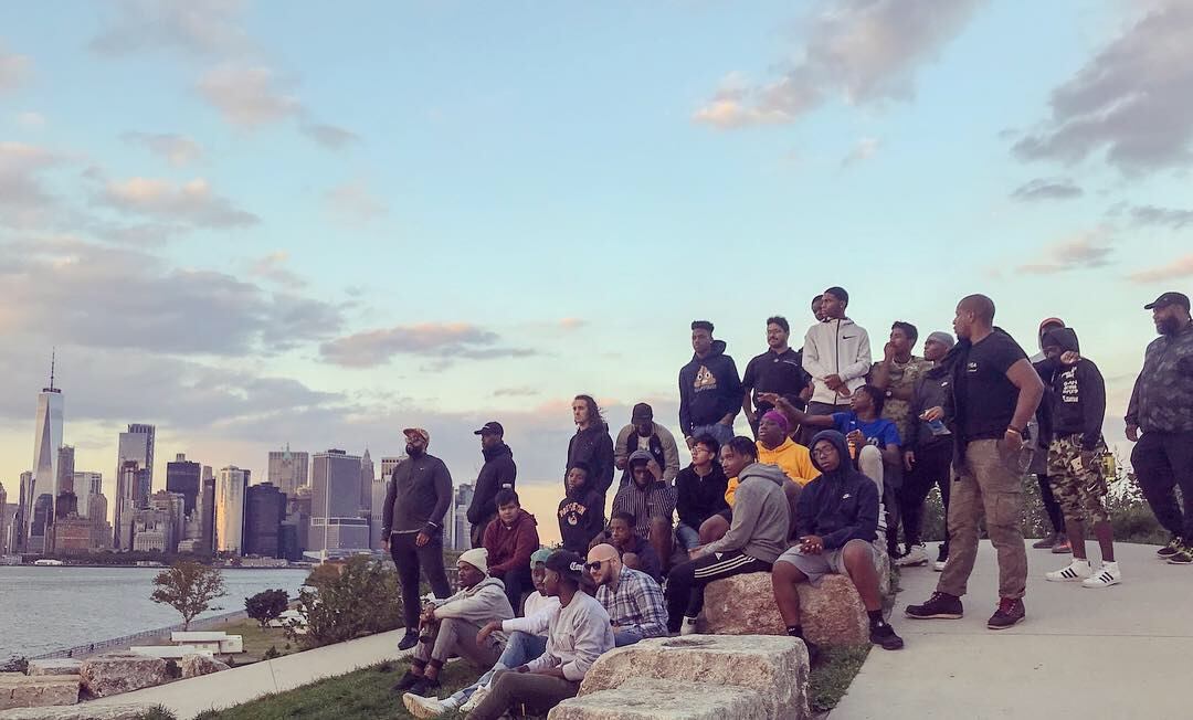 Camping to Connect participants at The Hills, Governors Island, NY, September 29, 2018