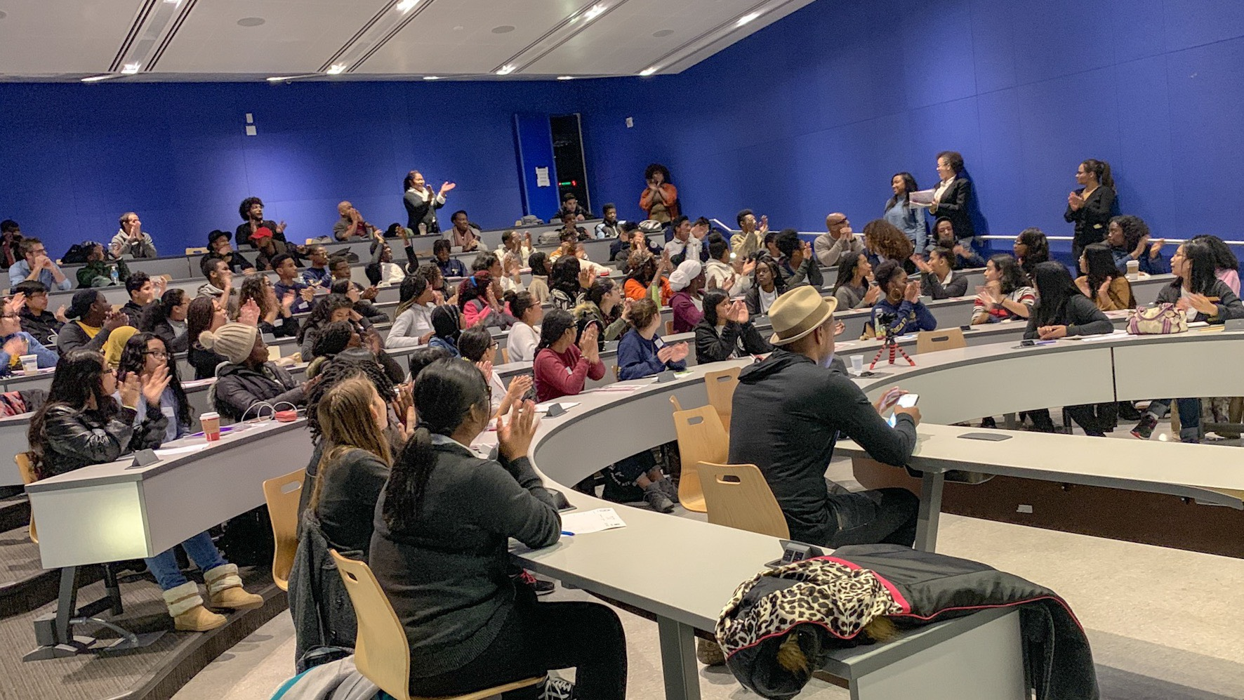 Students from the NYC Urban Ambassadors and NYC Great! programs participate in the Mental Health and Wellness Careers panel at John Jay College, November 10, 2018