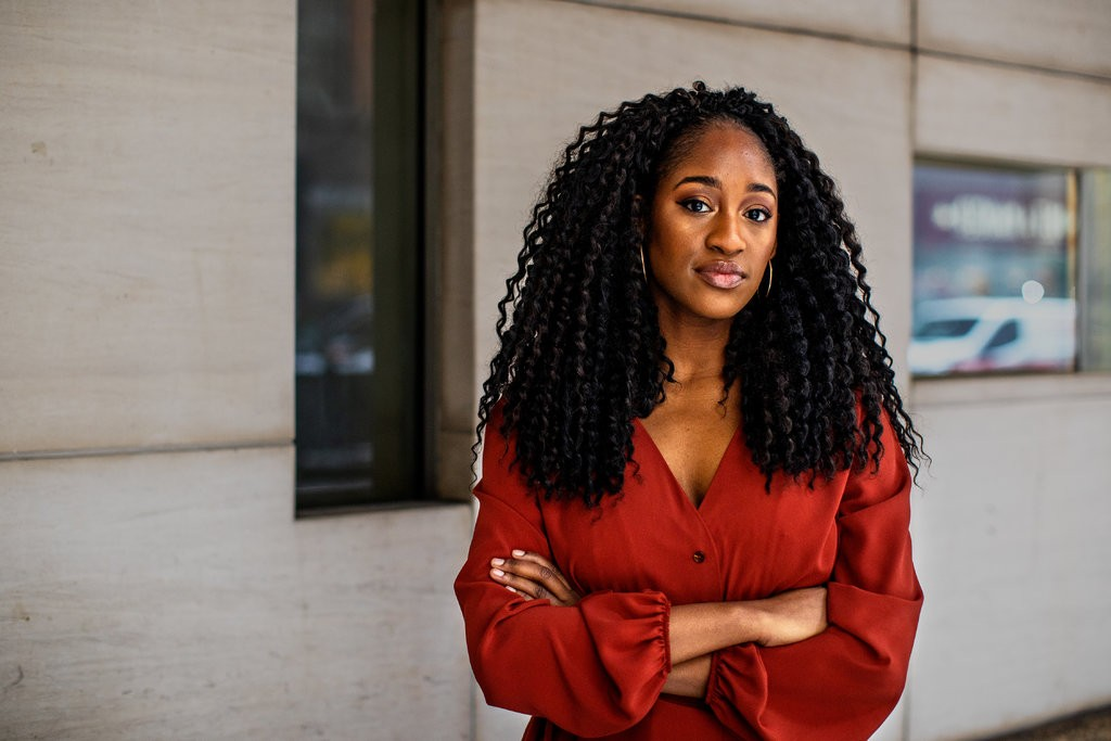 Najla Austin, the 27-year-old founder of the forthcoming Ethel's Club.  Credit Demetrius Freeman for The New York Times