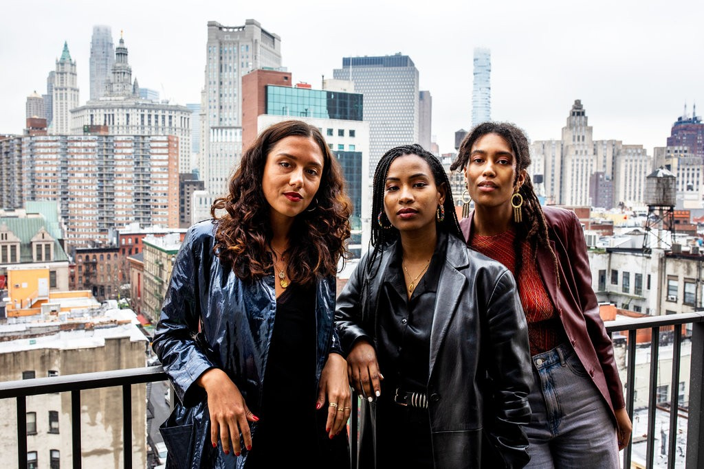 From left, June Canedo, Ladin Awad and Sienna Fekete, the founders of Chroma. Credit Demetrius Freeman for The New York Times