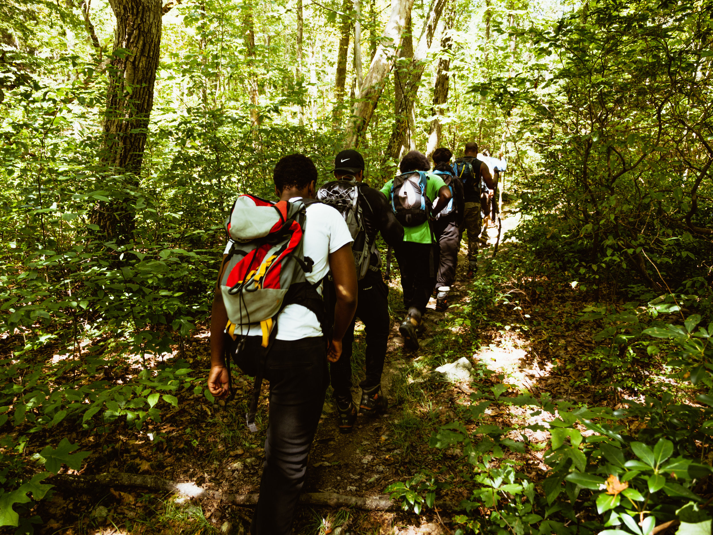 A day hike lead by participants, with roles including Hike Leaders, Navigators and Sweepers.