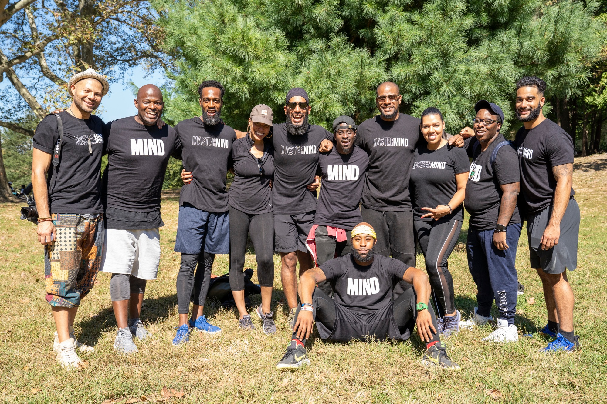 Mastermind Connect members gather for Black Men Meditate in Brooklyn, NY, with Brooklyn Borough President Eric Adams.