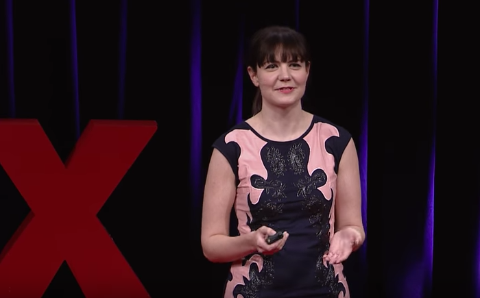 Ariel Waldman speaking at TEDx San Francisco in 2016.