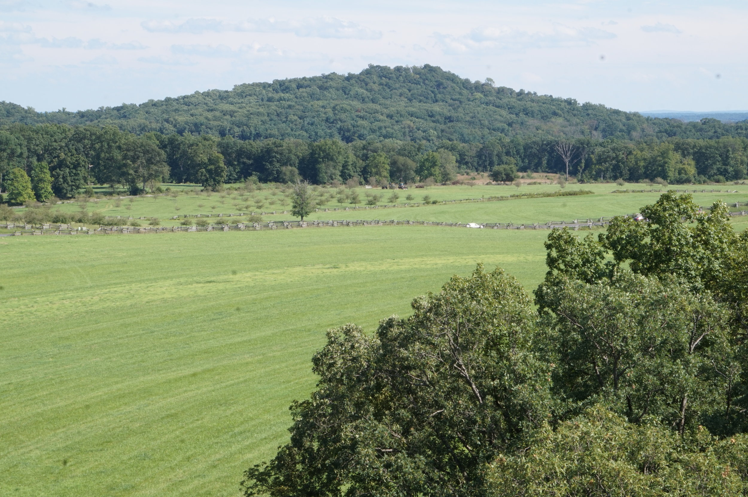 Big Round Top, viewed from the observation tower near Millerstown Road.